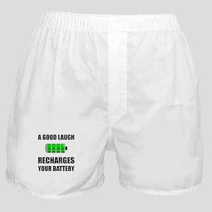 Laugh Recharges Battery Boxer Shorts
