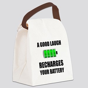 Laugh Recharges Battery Canvas Lunch Bag