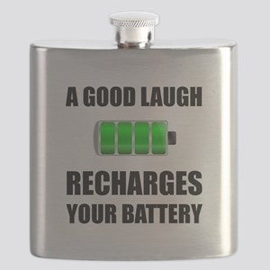 Laugh Recharges Battery Flask