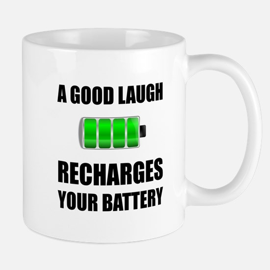 Laugh Recharges Battery Mugs
