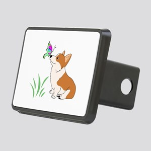 Corgi with butterfly Hitch Cover