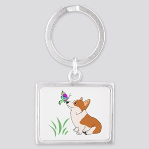 Corgi with butterfly Keychains