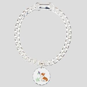 Corgi with butterfly Bracelet