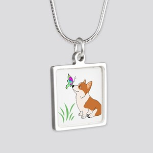 Corgi with butterfly Necklaces