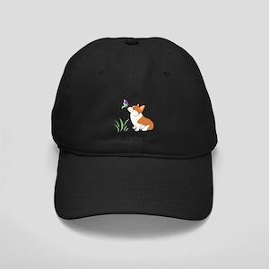 Corgi with butterfly Baseball Hat