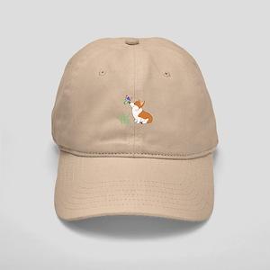 Corgi with butterfly Baseball Cap
