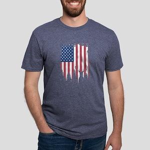 American Flag Deer Hunting T-Shirt