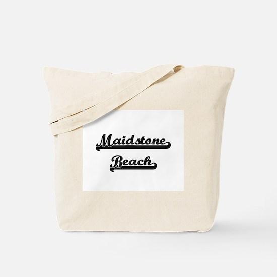 Maidstone Beach Classic Retro Design Tote Bag