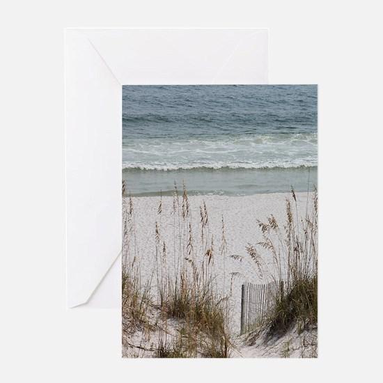 Sandy Beach Greeting Cards