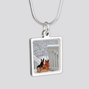 Corgis in Winter Necklaces