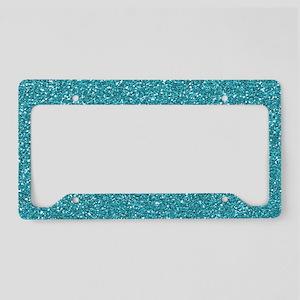 Sky Blue Glitter License Plate Holder