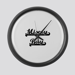 Misery Bay Classic Retro Design Large Wall Clock