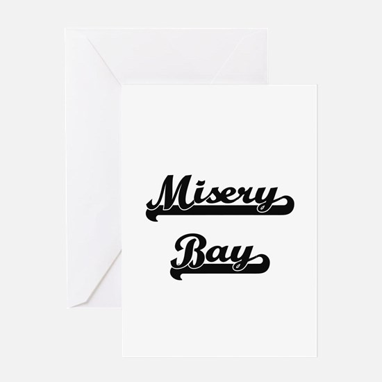Misery Bay Classic Retro Design Greeting Cards