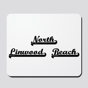 North Linwood Beach Classic Retro Design Mousepad