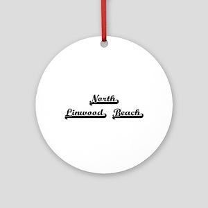 North Linwood Beach Classic Retro Ornament (Round)