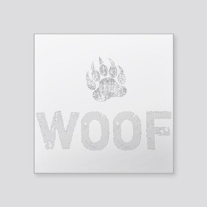 Gay Bear Pride distressed Bear Paw WOOF Sticker