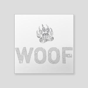 Gay Bear Pride distressed Bear Paw WOOF Sticker