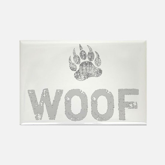 Gay Bear Pride distressed Bear Paw WOOF Magnets