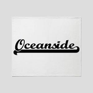 Oceanside Classic Retro Design Throw Blanket
