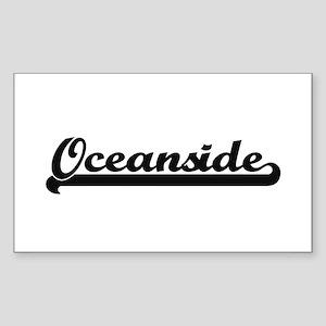 Oceanside Classic Retro Design Sticker
