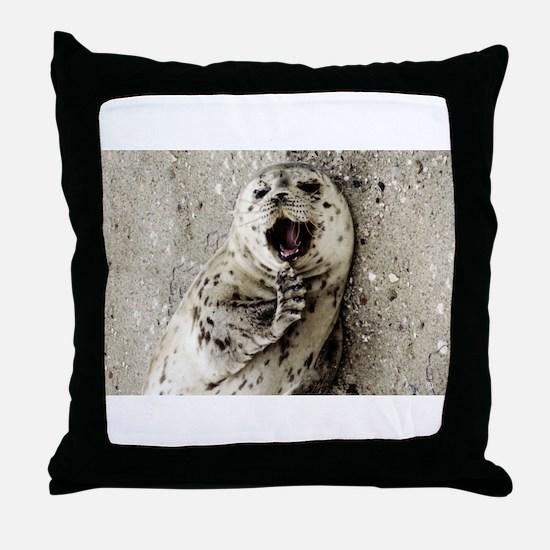 Harbor Seal Pup Throw Pillow