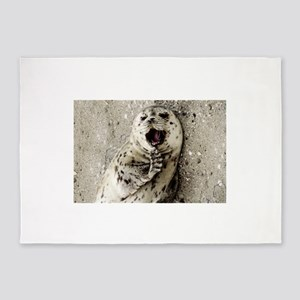 Harbor Seal Pup 5'x7'Area Rug