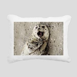 Harbor Seal Pup Rectangular Canvas Pillow