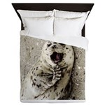 Harbor Seal Pup Queen Duvet