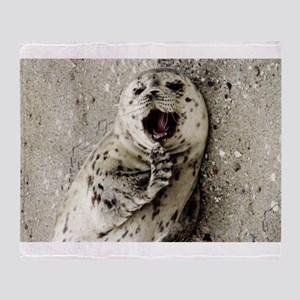 Harbor Seal Pup Throw Blanket
