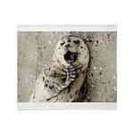 Harbor Seal Pup Throw Blanket