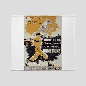 baseball art Throw Blanket