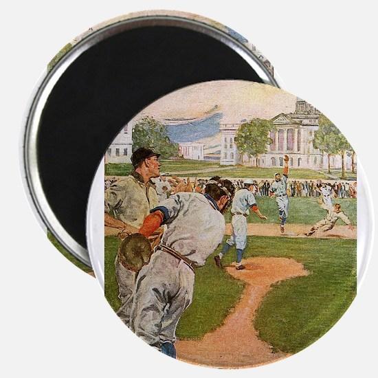 baseball art Magnets