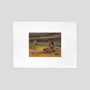 baseball art 5'x7'Area Rug