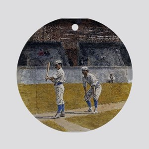 baseball art Ornament (Round)