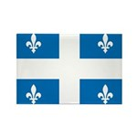 Official Flag and Color Rectangle Magnet (10 pack)