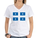 Official Flag and Color Women's V-Neck T-Shirt