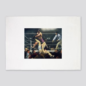 boxing art 5'x7'Area Rug