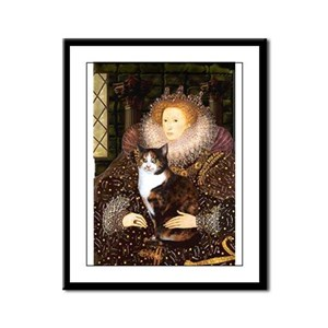 The Queen's Calico Cat (#1) Framed Panel Print