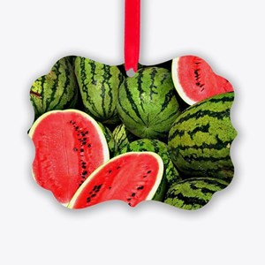 Watermelons Picture Ornament