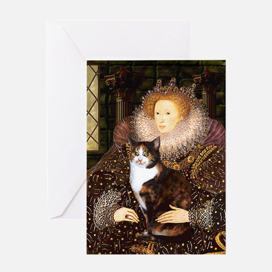 The Queen's Calico Cat (#1) Greeting Card