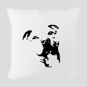 Pitbull Dog Woven Throw Pillow