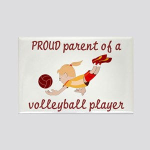 Proud parent of volleyball pl Rectangle Magnet