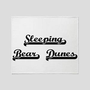 Sleeping Bear Dunes Classic Retro De Throw Blanket
