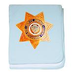 San Bernardino County Sheriff baby blanket