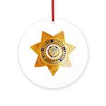 San Bernardino County Sheriff Round Ornament