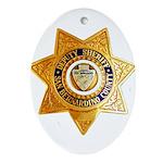 San Bernardino County Sheriff Oval Ornament