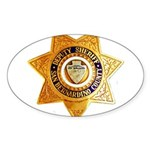 San Bernardino County Sheriff Sticker (Oval 50 pk)