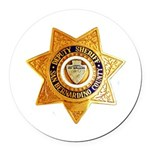 San Bernardino County Sheriff Round Car Magnet
