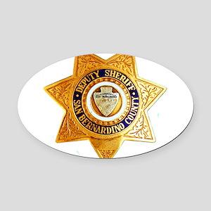 San Bernardino County Sheriff Oval Car Magnet