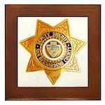 San Bernardino County Sheriff Framed Tile